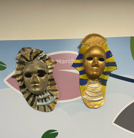 Egyptian Death Masks at Old Bank Academy